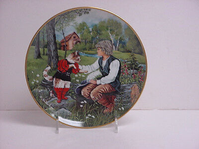 Kaiser Porcelain Collector Plate Classic Fairy Tales Puss in Boots Original Box