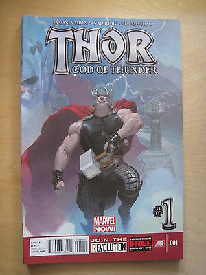 THOR GOD of THUNDER # 1. By AARON, RIBIC, WHITE. FANTASTIC !. MARVEL NOW! 2013
