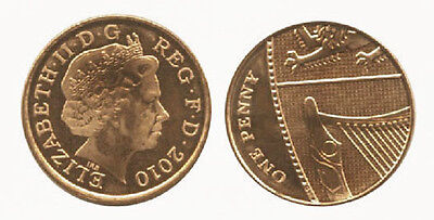 Great Britain 2010 1 Penny Uncirculated (KM1107)