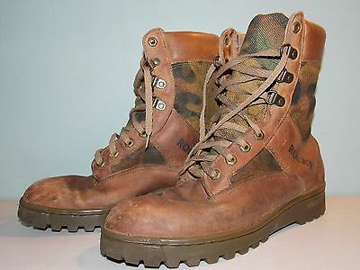 1990's Brown Leather and Canvas Outdoor Boots by Rocky Men's Size 8 1/2 USA Made