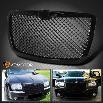 2005-2010 Chrysler 300 300C [Shinny Black] Front Mesh Hood Grill Grille