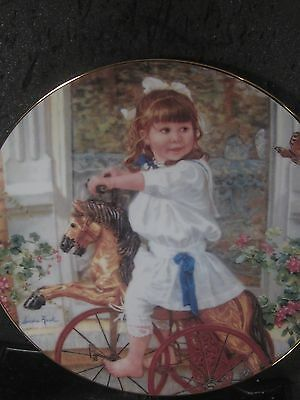 Reco 1991 Kuck ME AND MY PONY Hearts and Flowers Ltd Ed Plate