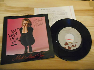 "7"" Pop Belinda Carlisle - Mad About You / Never Wanted  IRS REC  + Presskit"
