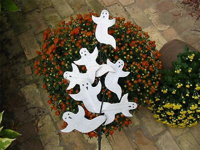 Halloween Spray of Glittered Ghosts Floral Pick Stick Set of 2