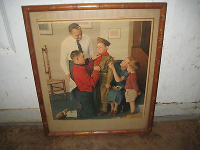 Mighty Proud Norman Rockwell Print, Framed         eb07