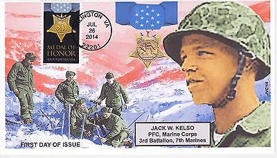 Jvc Cachets - 2014 Korean War Medal Of Honor First Moh Day Covers Fdc Topical #3