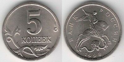 Russia 1998 5 Kopeks Uncirculated (Y#601)