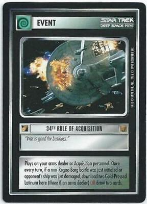 STAR TREK DEEP SPACE NINE - CARD - 34th RULE OF ACQUISITION (DS9080)