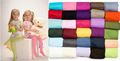 Tights Plain Opaque 40 Denier Microfibre Age 2-12 Years-30 Various Colours