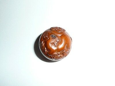 "Wonderful RAM Sheep Round Boxwood Shank Button - Approx. 1"" diameter"