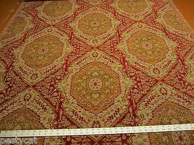 5 yards Luciano Ruby southwest patterned chenille upholstery fabric r1259b