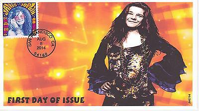 Jvc Cachets - 2014 Janis Joplin First Day Covers Fdc Topical Music Woodstock #1