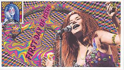 Jvc Cachets - 2014 Janis Joplin First Day Covers Fdc Topical Music Woodstock #2