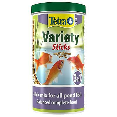 150g 1 ltr litre TETRA POND VARIETY STICKS FLOATING KOI FISH FOOD VARIED DIET