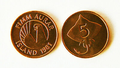 Iceland 1981 5 Aurar Uncirculated (KM24)