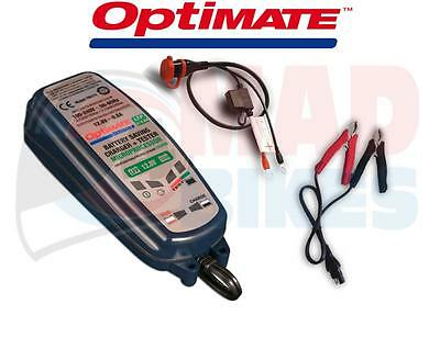 Optimate SAE 12V Battery Charger For Lithium LiFePO4 Motorcycle Batteries 0.8A