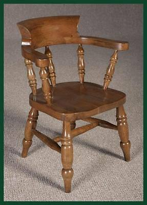 Childs Captains Chair In Solid Oak Desk Chair Armchair Birthday Present