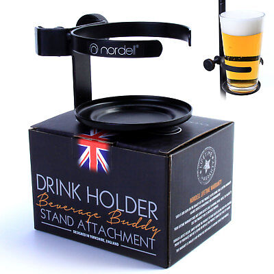 Drinks Holder: Metal Pint Glass holder for Microphone/Mic Stand Live Performance