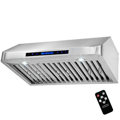 "30"" Stainless Steel Under Cabinet Range Hood Kitchen Stove Vent & Remote Control"