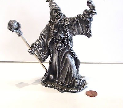 Wizard Figurine Mythical Legends Resin New in Box  Magic with Septre and Serpent
