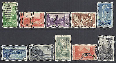 US 1934 National Parks Year Set of 10, Complete - 740-749 Used*