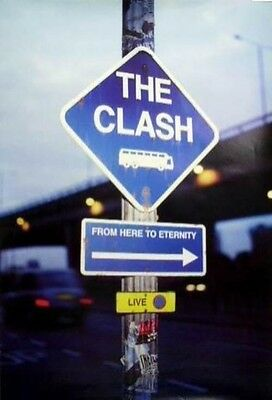 THE CLASH 1999 from here to eternity promotional poster ~MINT~NEW old stock~!!