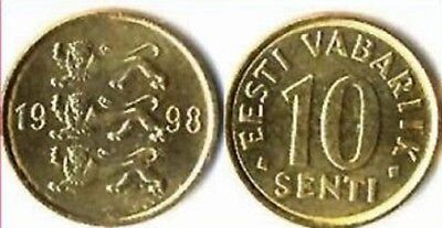 Estonia 1998 10 Senti Uncirculated (KM22)