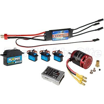 CopterX CX 450 Flybarless Electronic Parts Package V3 Gyro Brushless Motor ESC