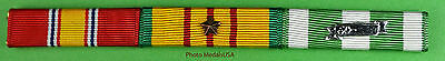 Vietnam War Ribbon Bar - National Defense, Campaign, Service & 1 Campaign star