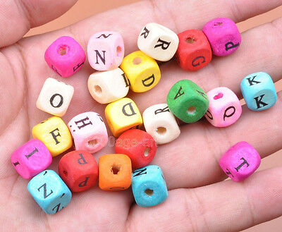 wholesale 50pcs 100pcs Charms Square Cube Wood Spacer loose Beads 10x10MM