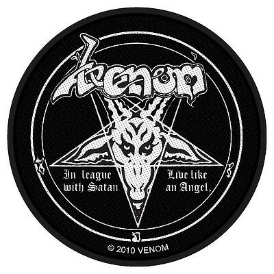 VENOM - Patch Aufnäher In league with satan rund 9x9cm