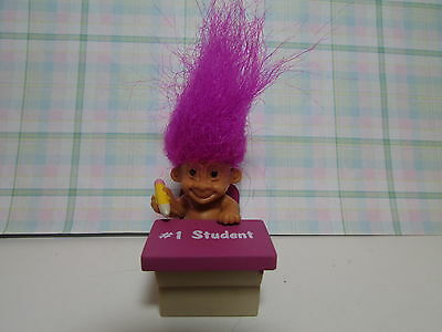 """#1 STUDENT - 2"""" Russ Honor Roll Troll Doll - NEW IN ORIGINAL WRAPPER"""