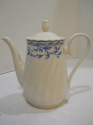 Simplicity by heritage mint coffee pot teapot urn blue flowers leaves berries