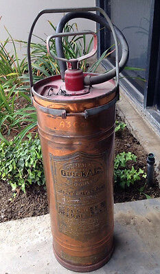 Antique Copper And Brass General And Quick Aid Fire Guard Fire Extinguisher