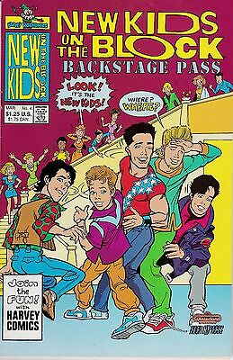 The New Kids On The Block Backstage Pass #4 March 1991 Harvey Comics