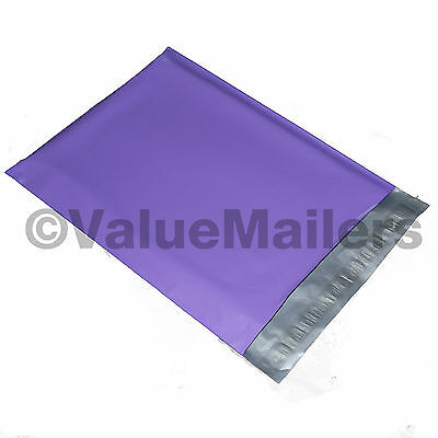 100 12x15.5 PURPLE Poly Mailers Shipping Envelopes Couture Boutique Quality Bags