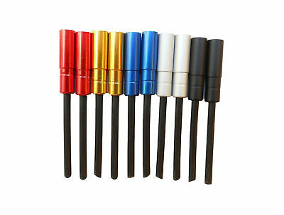 Brake Cable Tailed Ferrules Long Aluminium Anodised 5.0mm (4 pack) Colours CT-00