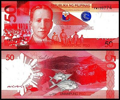 Philippines 50 Piso 2010 Uncirculated P 207