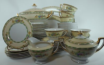 MEITO china MEI459 pattern 59-pc SET SERVICE for 8 +/- including serving