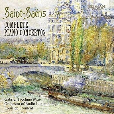 Tacchino/rtlso/froment - Complete Piano Concertos 2 Cd Neu Saint-Saens,camille