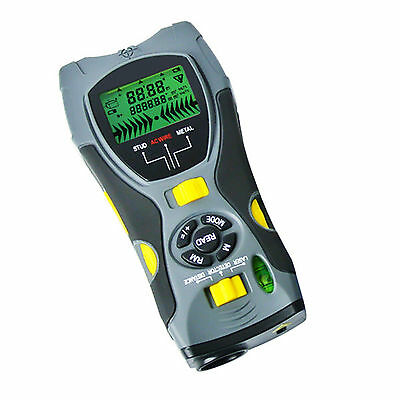 Portable Multifunction 5in1 Digital Distance Meter Stud/Joists Metal Wire Detect