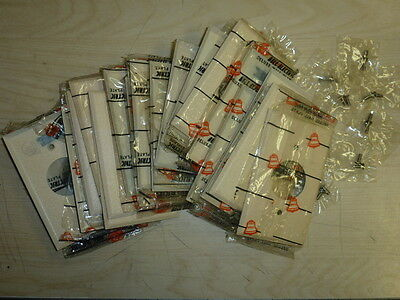 NOS! LOT of (24) BELL 1-GANG SINGLE RECEPTACLE, IVORY CRACKLE