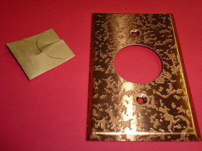 Nos! Bell 1-Gang Single Receptacle, Antique Copper Finish Wall Plate