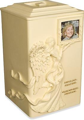 Angel Star Angels Near Cremation Urn Stone Picture Frame