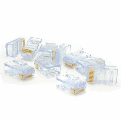 RJ48 Crimp End 10P 10C 10 Pin Plug for Solid or Stranded Cable x 10 [007271]