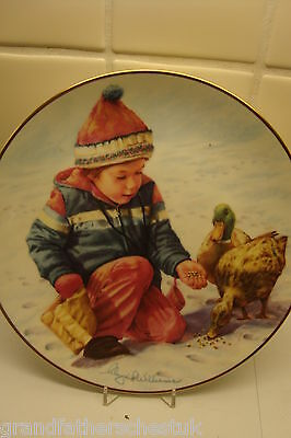 Hamilton Collectors Plate Ltd Edition The Magic Of Childhood A Handful Of Love