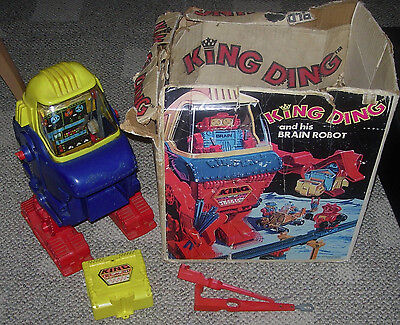 Topper  King Ding  Robot  Boxed  1971  Incomplete  Non-Working  No Brain