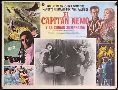 L256  CAPTAIN NEMO & THE UNDERWATER CITY original Mexican Lobby card Robert Ryan