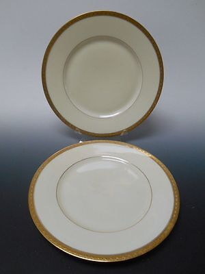 """Black Knight Hutschenreuther TRIANON Set of Two Dinner Plates 9 7/8"""" Wide"""