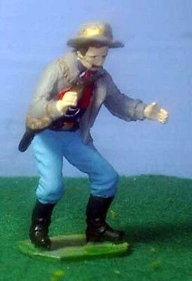 TOY SOLDIERS METAL AMERICAN LITTLE BIGHORN 7TH CAVALRY CAPT. TOM CUSTER 54MM